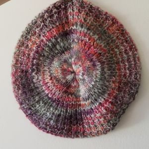 Colorful Crochet Hat Vintage Style - One Size